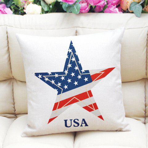 Outfit Stylish The Stars and The Stripes Pattern Square Shape Pillowcase (Without Pillow Inner) - RED AND WHITE AND BLUE  Mobile
