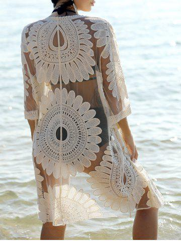 Discount Bohemian Flare Sleeve Lace Spliced Women's Cover-Up