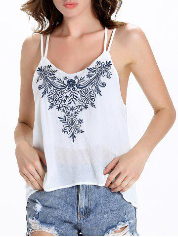 New Floral Strappy Tank Top