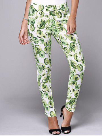 Affordable Stylish Women's Elastic Waist Print Skinny Pants