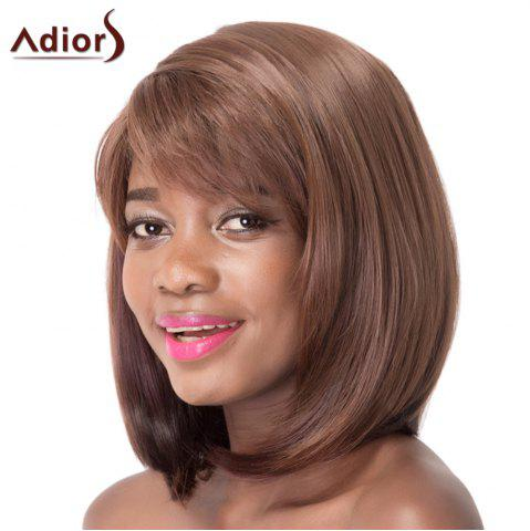Outfits Straight Side Bang Synthetic Brown Mixed Capless Wig For Women