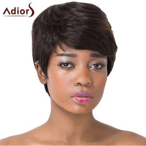 Fancy Fluffy Natural Straight Capless Refreshing Brown Highlight Short Synthetic Adiors Wig For Women COLORMIX