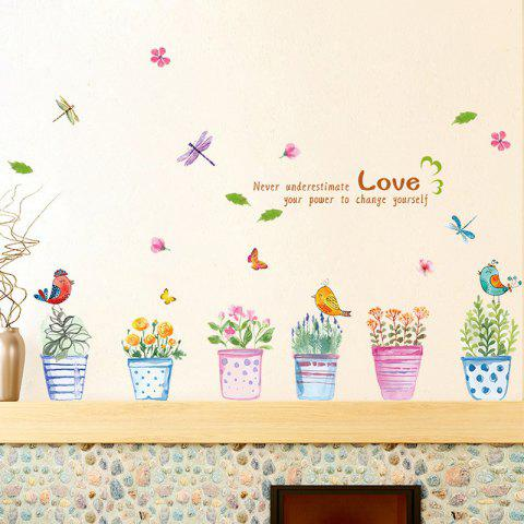 Latest Creative Hand painted Bonsai Pattern Wall Sticker For Bedroom Livingroom Decoration COLORMIX