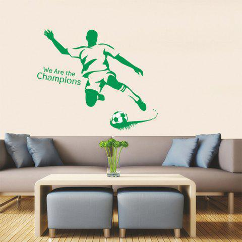 Store Football Boy Pattern Sports Wall Decals For Bedrooms APPLE GREEN