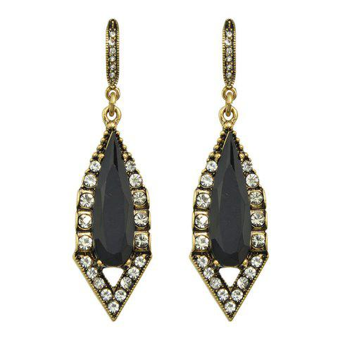 Unique Pair of Vintage Alloy Water Drop Triangle Earrings For Women