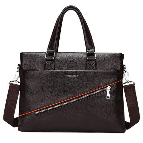 Affordable Styish Zip and PU Leather Design Briefcase For Men