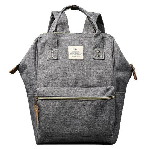 Affordable Leisure Zips and Canvas Design Backpack For Men
