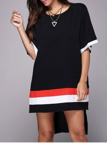 Best Casual Style Jewel Neck Half Sleeve Loose-Fitting Side Slit T-Shirt For Women