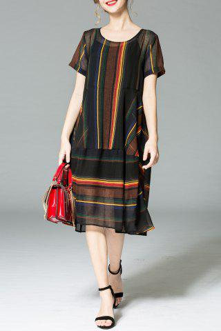 Fashion Loose Stripe Print Dress