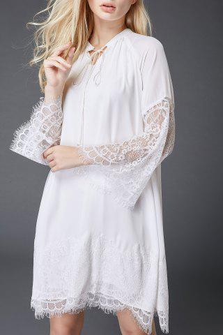 New Lace Spliced Hollow Out Dress