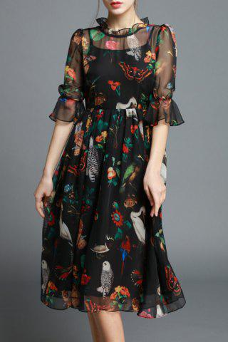 Best Ruffled Floral Print Dress