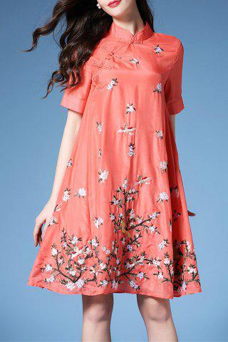 Hot Chinese Frog Button Embroidered Dress