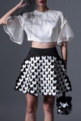 Best Flounce Sheer Crop Top