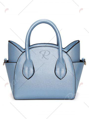 Online Charming Cat Shape and Solid Color Design Tote Bag For Women - BLUE  Mobile