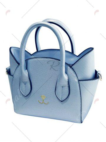 Outfit Charming Cat Shape and Solid Color Design Tote Bag For Women - BLUE  Mobile
