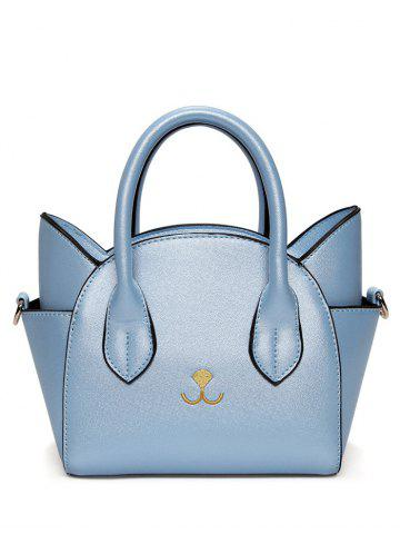 Charming Cat Shape and Solid Color Design Tote Bag For Women - Blue