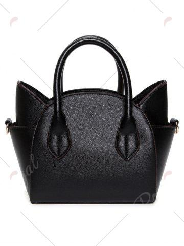 Trendy Charming Cat Shape and Solid Color Design Tote Bag For Women - BLACK  Mobile