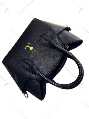 Buy Charming Cat Shape and Solid Color Design Tote Bag For Women - BLACK  Mobile