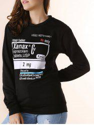 Trendy Round Neck Letter Print Thicken Long Sleeve Sweatshirt For Women