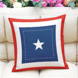Creative Five-Pointed Star Pattern Square Shape Pillowcase (Without Pillow Inner) -