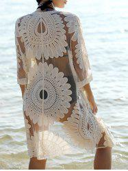 Bohemian Flare Sleeve Lace Spliced Women's Cover-Up -