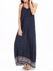 Bohemian Print Casual Maxi Slip Dress - COLORMIX