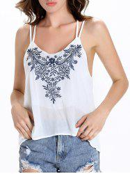 Floral Strappy Tank Top -