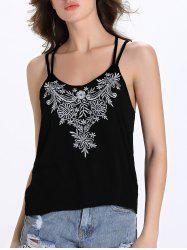 Chic Women's Scoop Neck Ethnic Print Racer Tank Top