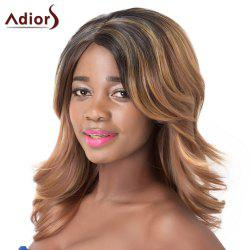 Medium Multicolor Mixed Fluffy Wavy Synthetic Adiors Wig For Women -