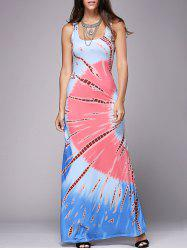 Bohemian Printed Casual Summer Maxi Dress - COLORMIX