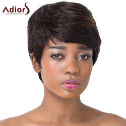 Fluffy Natural Straight Capless Refreshing Brown Highlight Short Synthetic Adiors Wig For Women