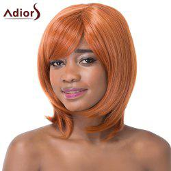 Sparkling Medium Straight Side Bang Synthetic Adiors Wig For Women