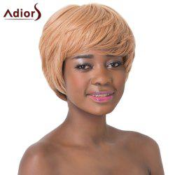 Refreshing Short Straight Full Bang Ombre Color Capless Synthetic Adiors Wig For Women