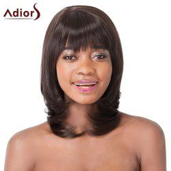 Fluffy Straight Tail Adduction Synthetic Graceful Medium Layered Full Bang Adiors Wig For Women