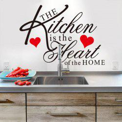 English Quotes Pattern Wall Sticker For Restaurant Kitchen Decoration - BLACK