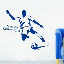 Football Boy Pattern Sports Wall Decals For Bedrooms - BLUE