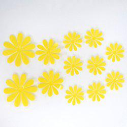 12PCS Creative 3D Floral Shape Plastic Wall Sticker For Kindergarten Children's Bedroom