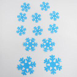 12PCS Creative 3D Snowflake Shape Plastic Wall Sticker For Kindergarten Children's Bedroom