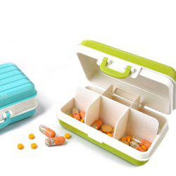 Hot Sale Portable Mini Luggage Shape Candy Color Sealed Medicine Storage Box