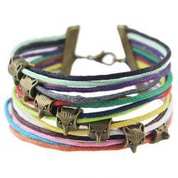 Vintage Faux Leather Rope Fox Bracelets