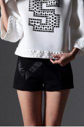 Solid Color Knitted Shorts -