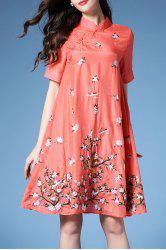 Chinese Frog Button Embroidered Dress -
