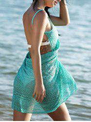 Guipure Backless Openwork Bathing Suit Cover-Ups -