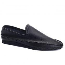 Simple Style Solid Colour and PU Leather Design Casual Shoes For Men -