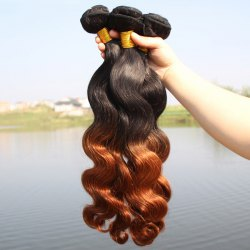 1 Pcs 6A Virgin Hair Brazil Human Hair Ombre Body Wavy Weave For Women -