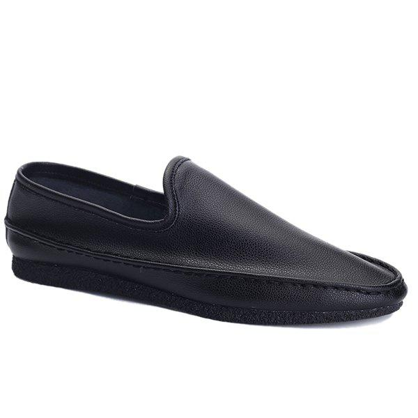Latest Simple Style Solid Colour and PU Leather Design Casual Shoes For Men