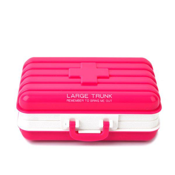 Discount Hot Sale Portable Mini Luggage Shape Candy Color Sealed Medicine Storage Box