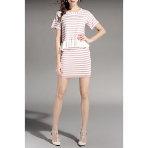 Stripe Top and Skirt -