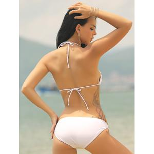 Sweet Halter Neck Solid Color Women's Bikini Set -