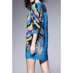 Colorful Printed Mini Dress -